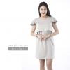 ชุดให้นม Phrimz : Marble Breastfeeding Dress - Gray สีเทา