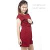 ชุดให้นม Phrimz : Popcorn breastfeeding jumpsuit - Red สีแดง