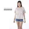 เสื้อให้นม Phrimz : Sophie Breastfeeding Top - Gray สีเทา