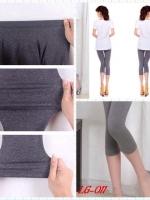 เลคกิ้งคนท้อง ขา4ส่วน สีเทาเข้ม M,L