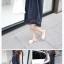 เดรสคนท้อง ผ้าฝ้ายใส่สบายๆ ทรงน่ารัก ต่อด้วยลูกไม้เล็กๆ สีน้ำงิน M,L,XL,XXL thumbnail 3