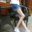 กางเกงยีนส์ขาสั้นคนท้อง ฟอกสวย ปลายพับ น่ารักค่ะ XL,XXL thumbnail 1
