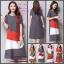 ชุดคลุมท้อง ลายแฟชั่น สีสันสดใสน่ารัก เทา แดง ขาว M,L,XL,XXL thumbnail 3