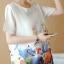 เดรสคลุมท้อง ผ้าชีฟองเนื้อดี พิมพ์ลายท้องทะเล น่ารัก M,L,XL,XXL thumbnail 4