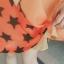 ชุดคนท้อง ผ้าชีฟอง สีส้ม แขนกุด ลายเด็กน้อย L,XL thumbnail 3