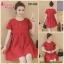 ชุดคลุมท้อง ผ้าเบาสบาย เชือกรูดผูกข้าง ประดับกระดุมข้าง สีแดง M,L,XL,XXL thumbnail 4