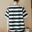ชุดเสื้อ+กางเกงคนท้อง ลายทาง ผ้านิ่ม ประดับฟรุ้งฟริ้ง กางเกงมีสายปรับขนาดภรรภ์ M,L,XL,XXL thumbnail 6