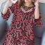 ชุดคลุมท้องผ้าชีฟอง ลายอมยิ้มรูปหัวใจ น่ารักผ้าดี มีซับใน M L XL XXL thumbnail 2