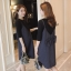 เอี๊ยมคนท้อง+เสื้อยืดแขน4 ส่วน ผ้าเนื้อดี ติดโบว์ใหญ่ด้านหลัง ลายผ้าพรางหุ่นอย่างดีค่ะ M,L,XL,XXL thumbnail 1