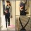 เอี๊ยมยีนส์+เสื้อแขนยาว แฟชั่นน่ารักมากค่ะ M,XL thumbnail 1