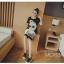 ชุดคลุมท้อง ผ้ายืดสีดำ ลายแฟชั่นประดับวิ้งๆที่แว่น M,L,XL thumbnail 4