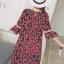 ชุดคลุมท้องผ้าชีฟอง ลายอมยิ้มรูปหัวใจ น่ารักผ้าดี มีซับใน M L XL XXL thumbnail 4