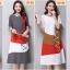 ชุดคลุมท้อง ลายแฟชั่น สีสันสดใสน่ารัก เทา แดง ขาว M,L,XL,XXL thumbnail 4