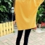 เสื้อคลุม แขนยาว ลายแมวน้อยผูกโบว์ กระเป่าเก๋ๆ สีเหลือง thumbnail 2