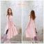 ชุดคลุมท้อง แขนกุด สีชมพูหวาน มีโบว์น่ารักๆ M,L,XL,XXL thumbnail 1