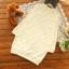 ชุดเดรสคลุมท้อง แขนยาว ผ้าฝ้ายสีขาว มีปุ่ม Dot ใหญ่ในตัวผ้า thumbnail 2