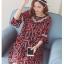 ชุดคลุมท้องผ้าชีฟอง ลายอมยิ้มรูปหัวใจ น่ารักผ้าดี มีซับใน M L XL XXL thumbnail 8