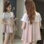 ชุดเสื้อ+กางเกงคนท้อง ชมพูลายขาว เอี๊ยมหลอก แบบน่ารัก กางเกงมีสายปรับขนาดภรรภ์ M,L,XL,XXL thumbnail 1