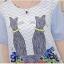 ชุดคนท้อง ลายน่ารัก ผ้าชีฟอง L,XXL thumbnail 3