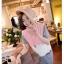ชุดเดรสคลุมท้องเปิดให้นม สี ชมพู ขาว เทา น่ารัก สดใส thumbnail 5