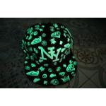 หมวกเรืองแสงลายNYเรืองแสงสีเขียว