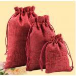ถุงผ้ากระสอบสีแดง 2.5 x 3.5 นิ้ว ลังละ 1000 ใบ