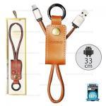 สายชาร์จพวงกุญแจ Remax RC-034M Western for Micro USB สีน้ำตาล