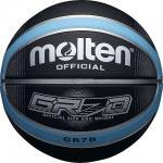 บาสเก็ตบอล MOLTEN BGRX7D KLB สีดำ/ฟ้า