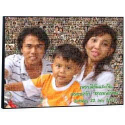 Mosaic Photo ขนาด30x40 นิ้ว กรอบลอยด้าน
