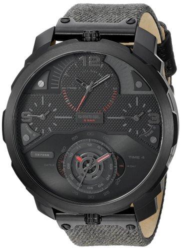 นาฬิกาผู้ชาย Diesel รุ่น DZ7358, Machinus 4 Timezone Dial Black Fabric Strap