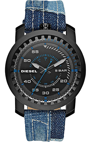 นาฬิกาผู้ชาย Diesel รุ่น DZ1748, 'Rig' Blue Cloth and Leather Watch