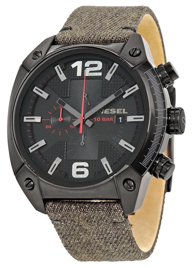 นาฬิกาผู้ชาย Diesel รุ่น DZ4373, Overflow Black Dial Chronograph Watch