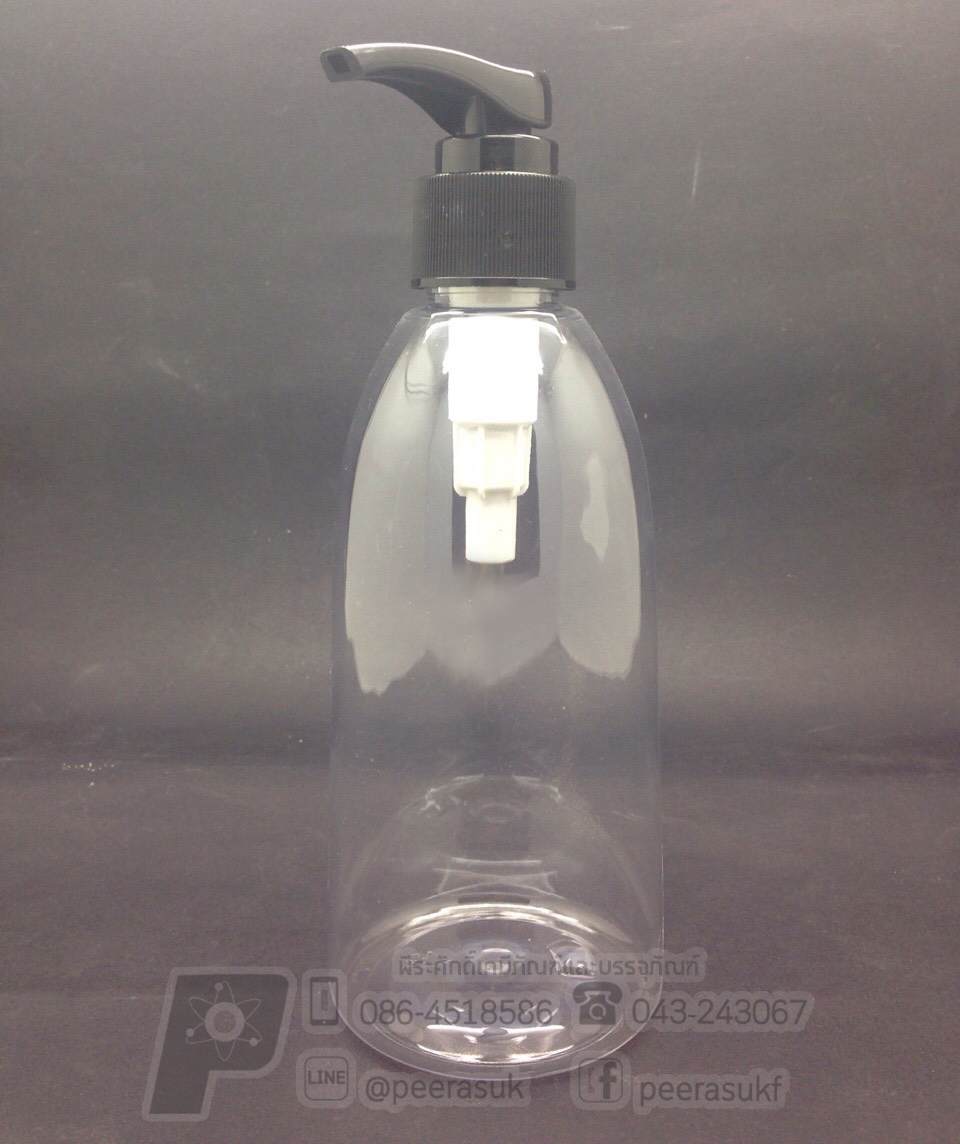 Ki250 ml ใส+ปั้มดำ 10 ชิ้น