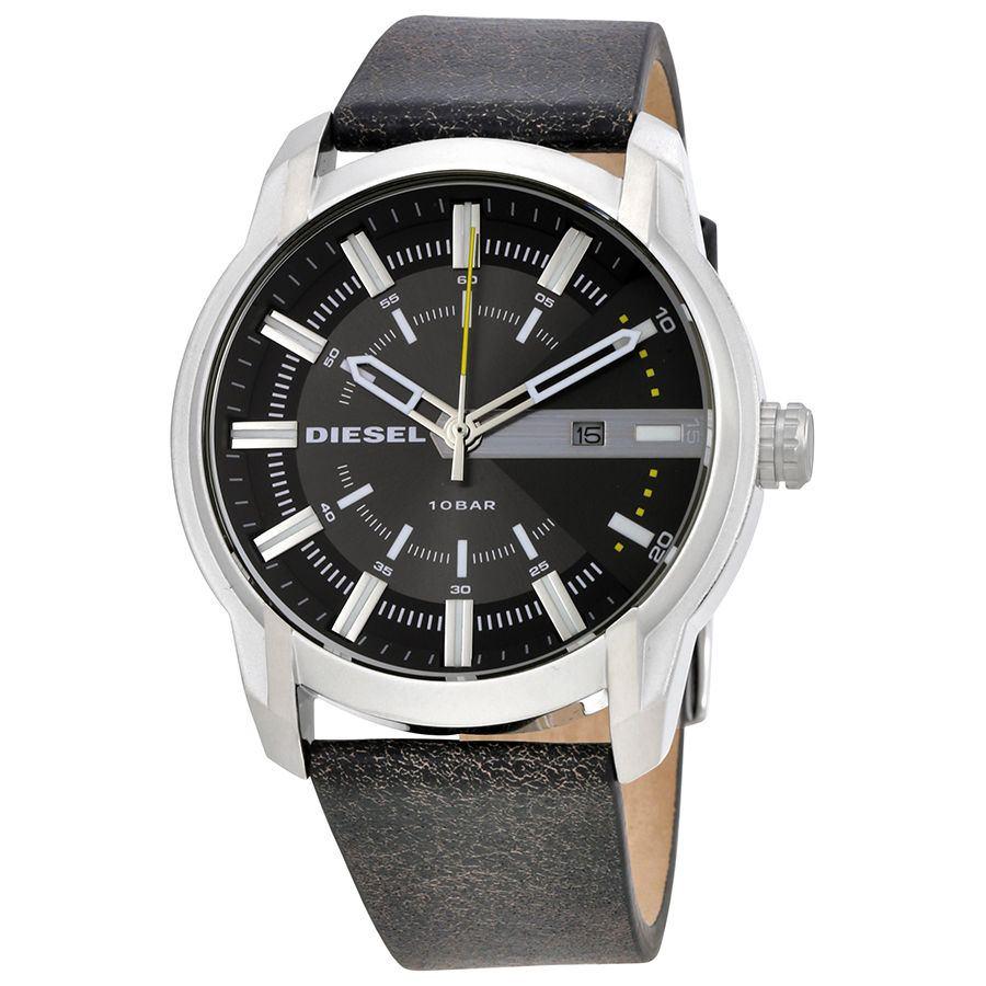 นาฬิกาผู้ชาย Diesel รุ่น DZ1782, Armbar Grey Dial Learther Men's Watch