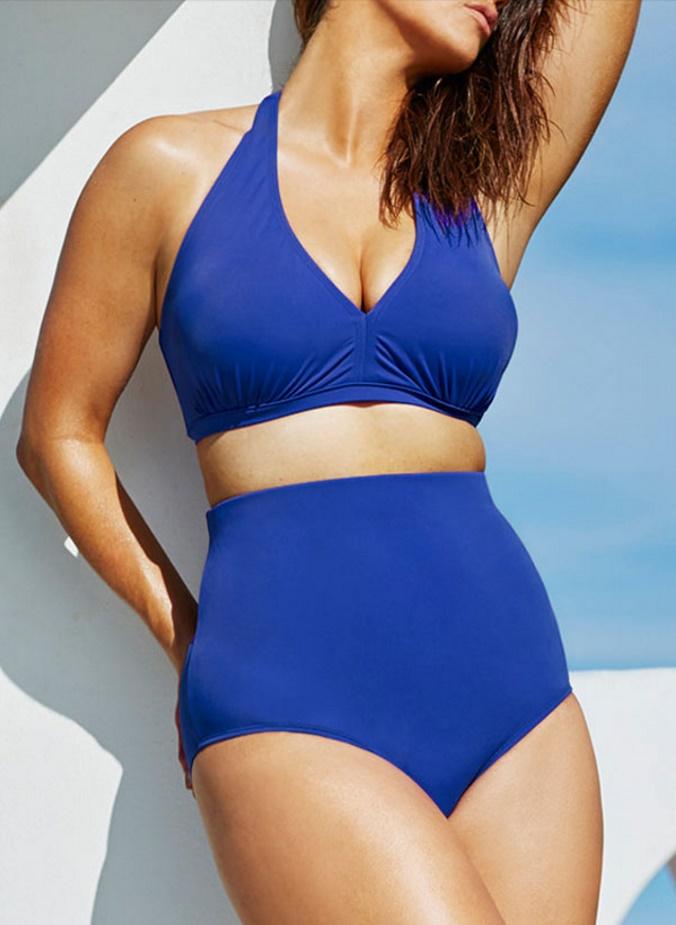 ชุดว่ายน้ำคนอ้วน พร้อมส่ง :ชุดว่ายน้ำแฟชั่นสีน้ำเงินทูพีชแต่งสายผูกโบว์ที่คอ sexyมากๆจ้า:รอบอก34-42นิ้ว เอว28-36นิ้ว สะโพก34-42นิ้วจ้า