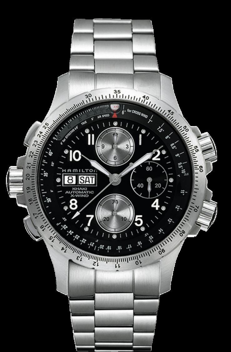 นาฬิกาผู้ชาย Hamilton รุ่น H77616133, Khaki Aviation X-Wind Auto Chrono