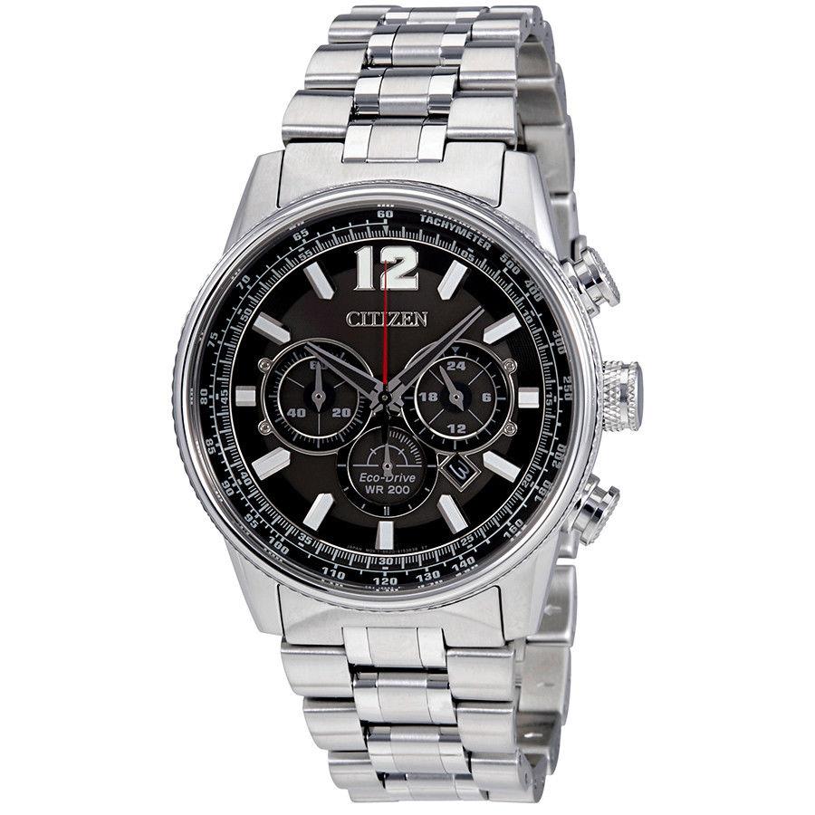 นาฬิกาข้อมือผู้ชาย Citizen Eco-Drive รุ่น CA4370-52E, Nighthawk Chronograph