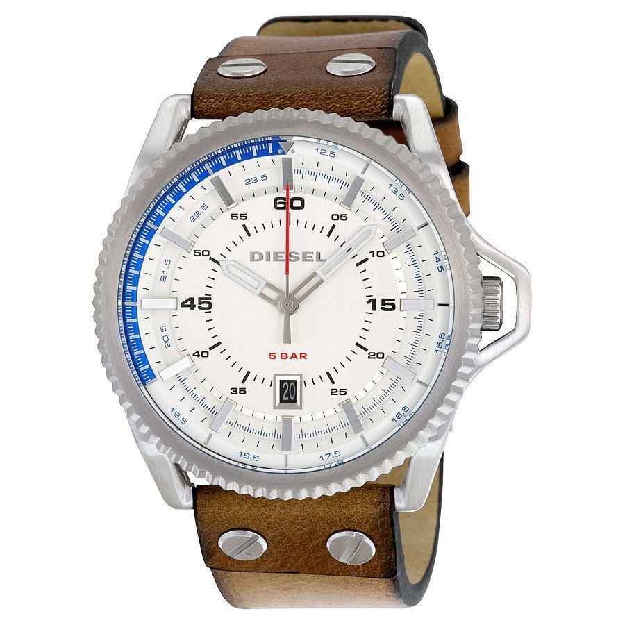 นาฬิกาผู้ชาย Diesel รุ่น DZ1715, Rollcage Exposed Brown Leather