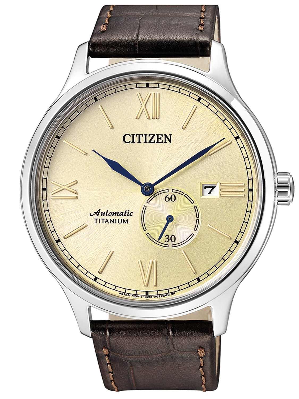 นาฬิกาผู้ชาย Citizen รุ่น NJ0090-13P, Mechanical Automatic Sapphire Titanium Leather