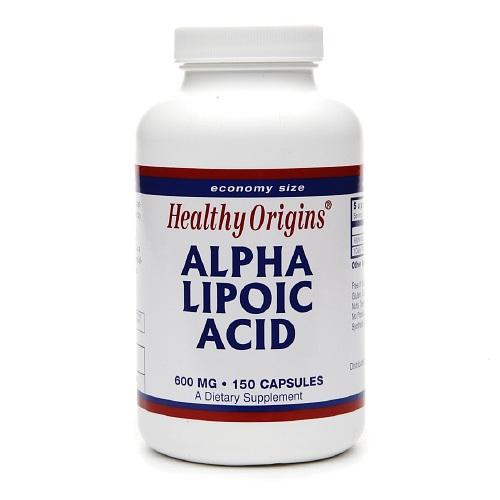 Healthy Origins Alpha Lipoic Acid, 600 mg, Capsules 150