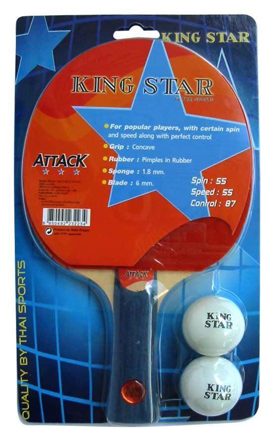 ไม้ปิงปอง KING STAR 3 ดาว รุ่น ATTACK