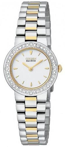 นาฬิกาผู้หญิง Citizen รุ่น EX1044-50A, Eco-Drive Silhouette Swarovski