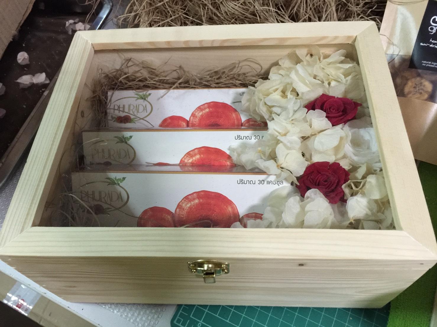 เห็ดหลินจือแดงภูรดา ชุดกล่อง ของขวัญ ปี ใหม่ ให้ ผู้ใหญ่