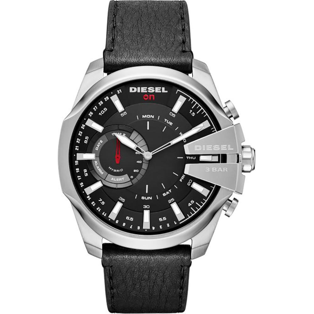 นาฬิกาผู้ชาย Diesel รุ่น DZT1010, Diesel On Mega Chief Hybrid Smartwatch Leather Strap Men's Watch
