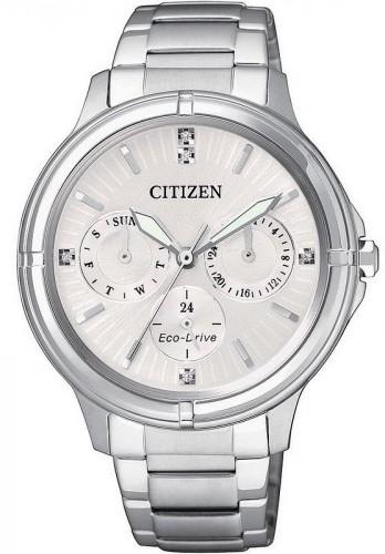 นาฬิกาผู้หญิง Citizen Eco-Drive รุ่น FD2030-51A, Swarovski Crystal Multi Dial Elegant