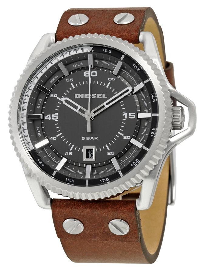 นาฬิกาผู้ชาย Diesel รุ่น DZ1716, Rollcage Exposed Grey Dial Brown Leather