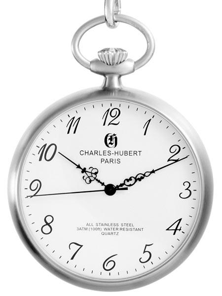 นาฬิกาพกพา Charles-Hubert รุ่น 3534, Quartz White Dial