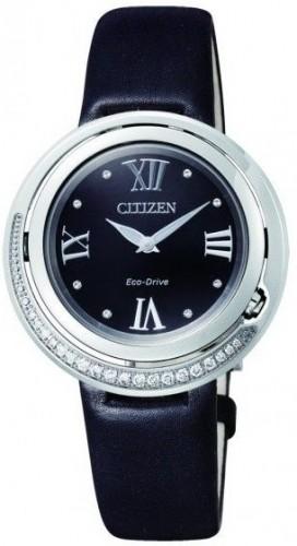 นาฬิกาข้อมือผู้หญิง Citizen Eco-Drive รุ่น EX1120-02E, Genuine Diamonds Sapphire Elegant Japan