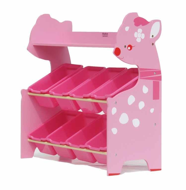 ชั้นวางของเล่น กวางชมพู Deer Keeping Toys สีชมพู ส่งฟรี