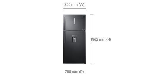 ตู้เย็น 2 ประตู ขนาด 20.1 คิว Samsung RT62K7350BS/ST